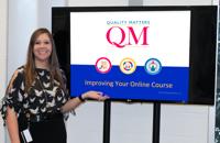 Lynn Wahl teaches QM IYOC workshop on campus