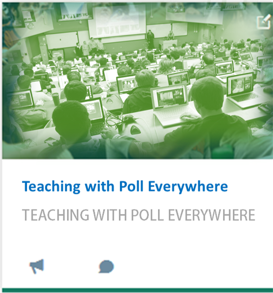Teaching with Poll Everywhere (student response system)