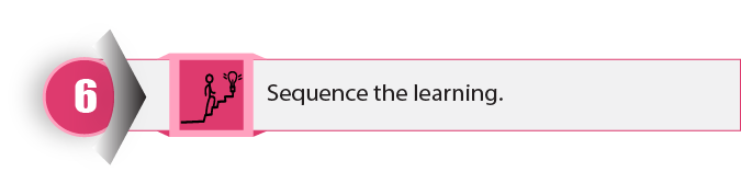 Step 6. Sequence the learning