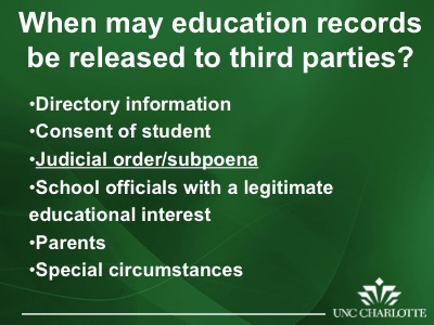 ferpa form uncc  FERPA: The Importance of Protecting Student Records (Slides ...
