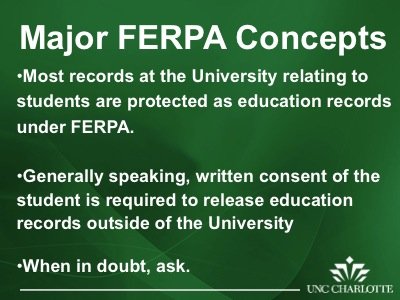 Charlotte Law School >> FERPA: The Importance of Protecting Student Records (Slides 19-22) | The Center for Teaching and ...
